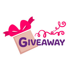 Giveaway presents for followers and subscribers vector