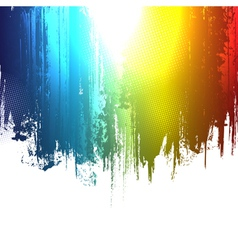 gradient paint splashes background vector image