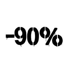 Graffiti discount made stencil -90 percent vector