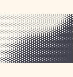 Halftone hexagonal pattern texture abstract vector