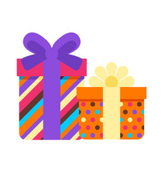 happy birthday gift boxes vector image