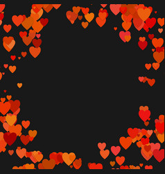 happy random heart background design - valentines vector image