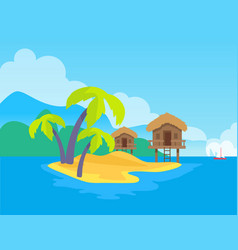 Island and tropic vacations vector