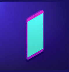 isometric smartphone 3d vector image
