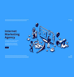 landing page for internet marketing agency vector image