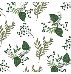 leaves nature background vector image