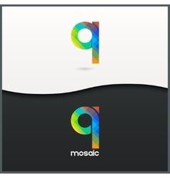 letter Q logo alphabet mosaic icon set background vector image