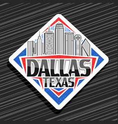 logo for dallas vector image