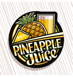 Logo for pineapple juice vector