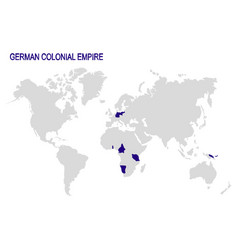 Map with german colonial empire vector