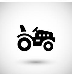 Mini tractor icon vector