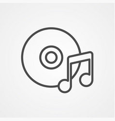 music disc icon sign symbol vector image
