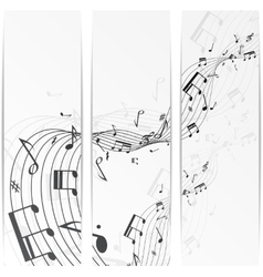 Music notes banner vector image