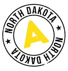 North Dakota stamp vector image