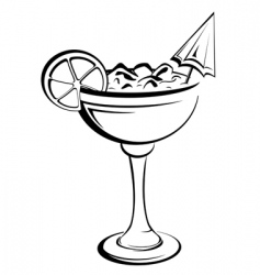 party cocktail vector image