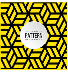pattern yellow hexagon or square geometric backgro vector image