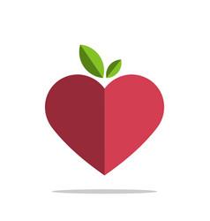 pink heart love logo template design eps 10 vector image