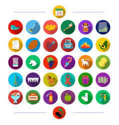 plumbing fruit music and other web icon in flat vector image