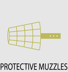 Protection muzzle animal dog vector