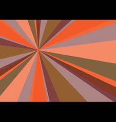Rays Radius Background Orange vector image