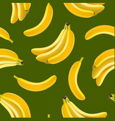 realistic detailed fruit banana seamless pattern vector image