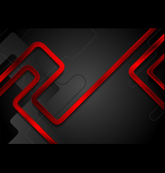 red metal glossy stripes on black background vector image
