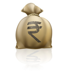 rupee money sack vector image
