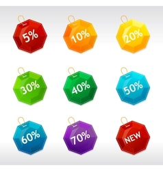 Sale labels crystal vector