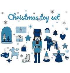 set toys christmas gifts and toys vector image