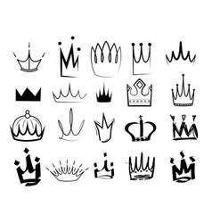 sketch crown vector image
