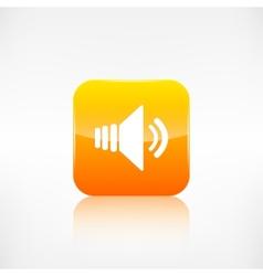 Speaker volume icon Application button vector image