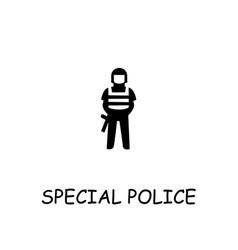 Special police flat icon vector