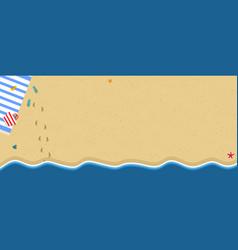 Summer beach top view travel horizontal banner vector