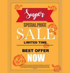 super special price sale banner for advertisement vector image