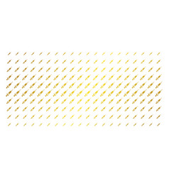 syringe golden halftone array vector image