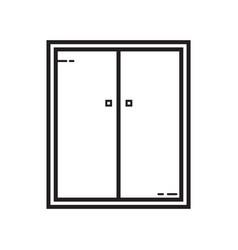 Thin line cupboard icon vector