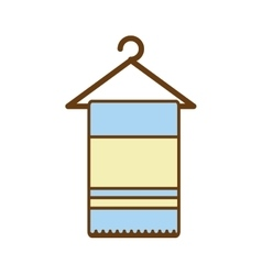 towel spa isolated icon vector image