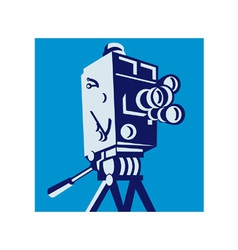 Vintage Film Movie Camera Retro vector image