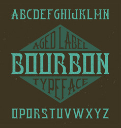 Vintage label typeface vector