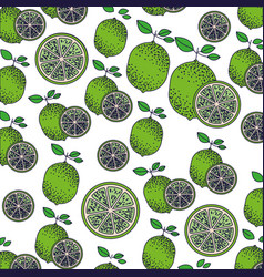 white background with pattern of lemon fruits and vector image