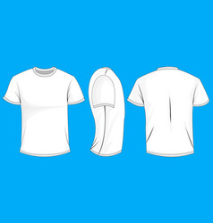 White t-shirt template in front side and back vector