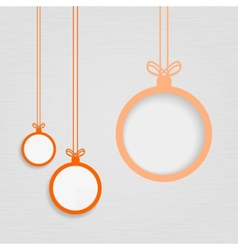Xmas balls on textured paper vector image