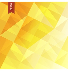 yellow triangles abstract background eps10 vector image