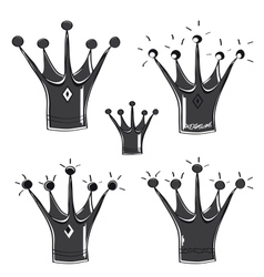 A fairytale crown set on white background vector image vector image