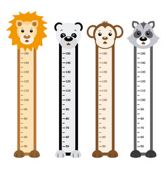 children meter wall vector image