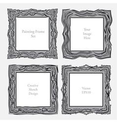 elegant antique square picture frame vector image