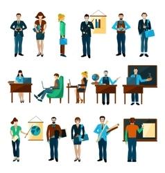 University People Set vector image