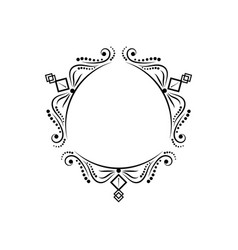 black vintage three-sided classic frame vector image vector image