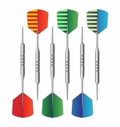 dartboard darts vector image vector image