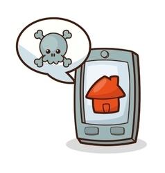 Isolated kawaii smartphone design vector image